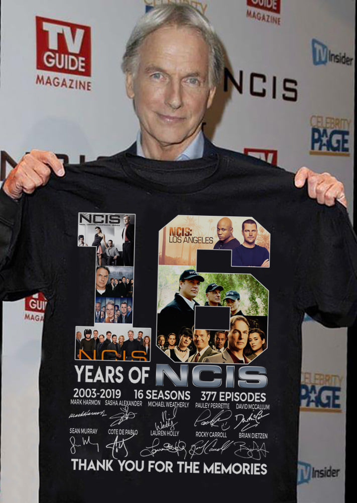 16 Years Of NCIS Thank You For The Memories Men T-Shirt