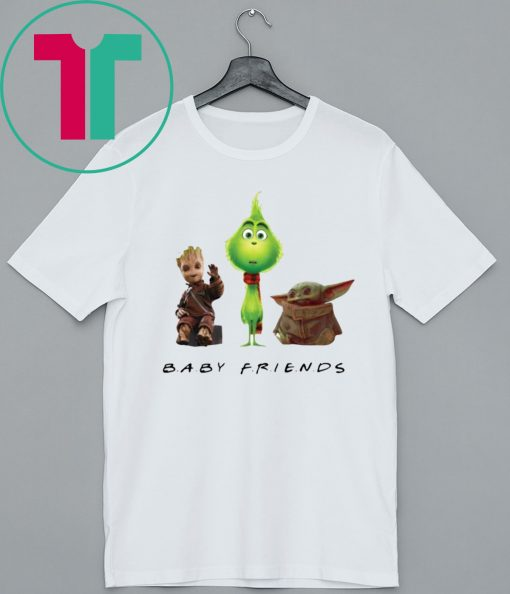 Baby Yoda Baby Grinch And Baby Groot Baby Friends Men T-Shirt