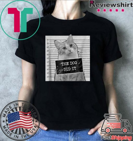 Cat Meme – The Dog Did It Men T-Shirt