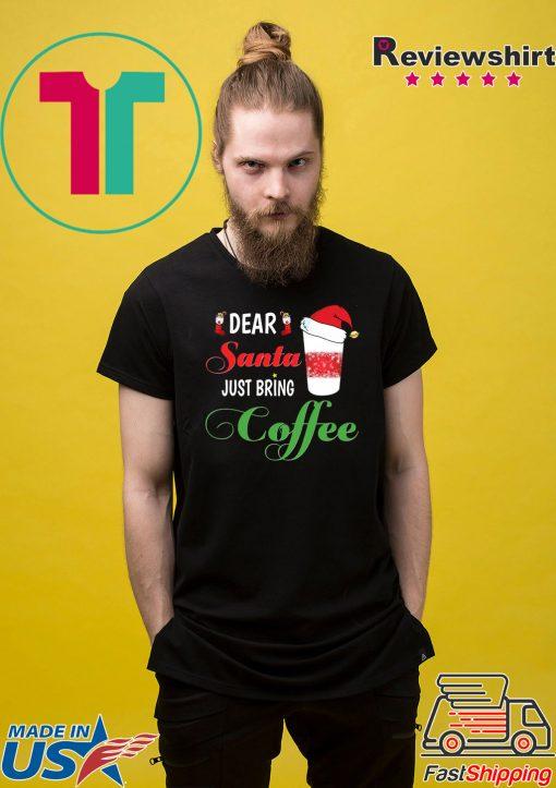 Dear Santa Just bring Coffee Tee Women Jersey Tank Top