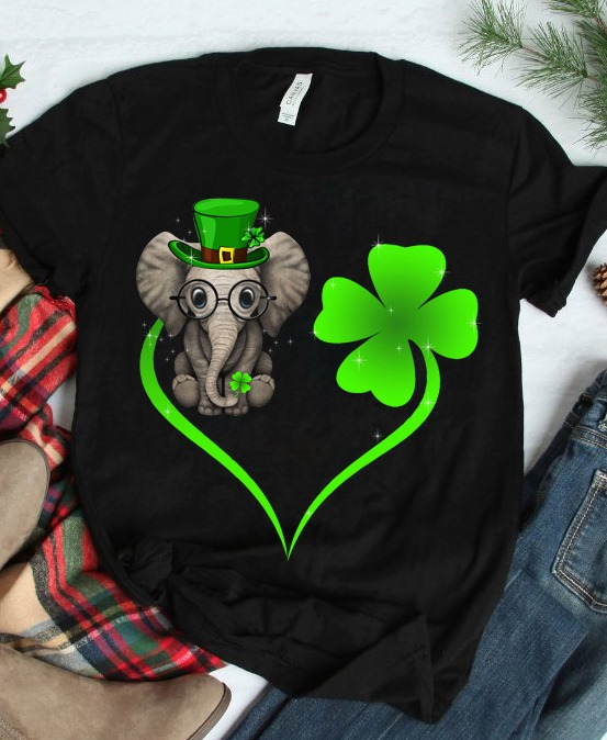 Elephant And Clover Become A Heart Hoodie