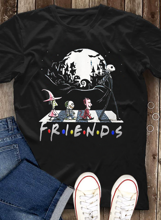 Friends Are Walking In The Dark Night Long Sleeve T-Shirt
