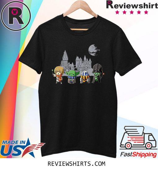 Harry Potter Baby Yoda And Darth Vader Long Sleeve T-Shirt