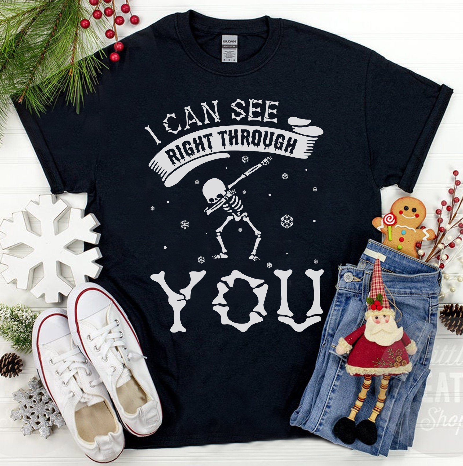 I Can See Right Through You The Skeleton Long Sleeve T-Shirt