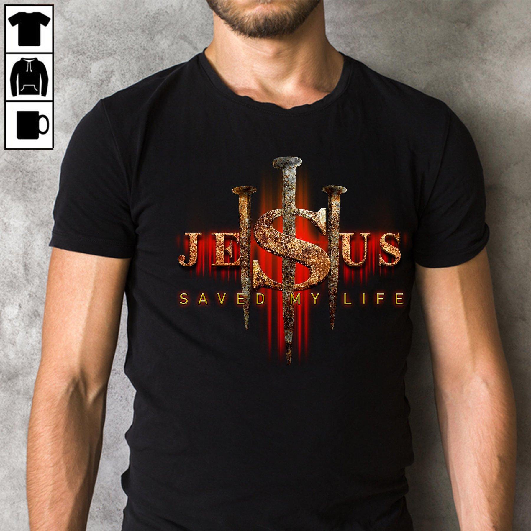 Jesus Saved My Life Men T-Shirt