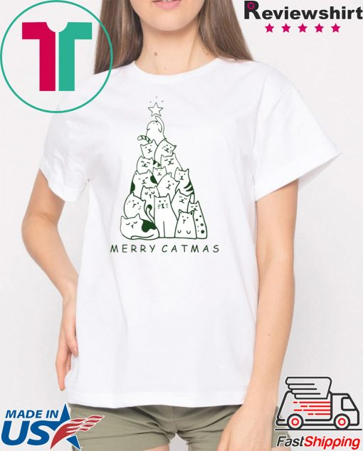 Merry Catmas Christmas Tree Men T-Shirt