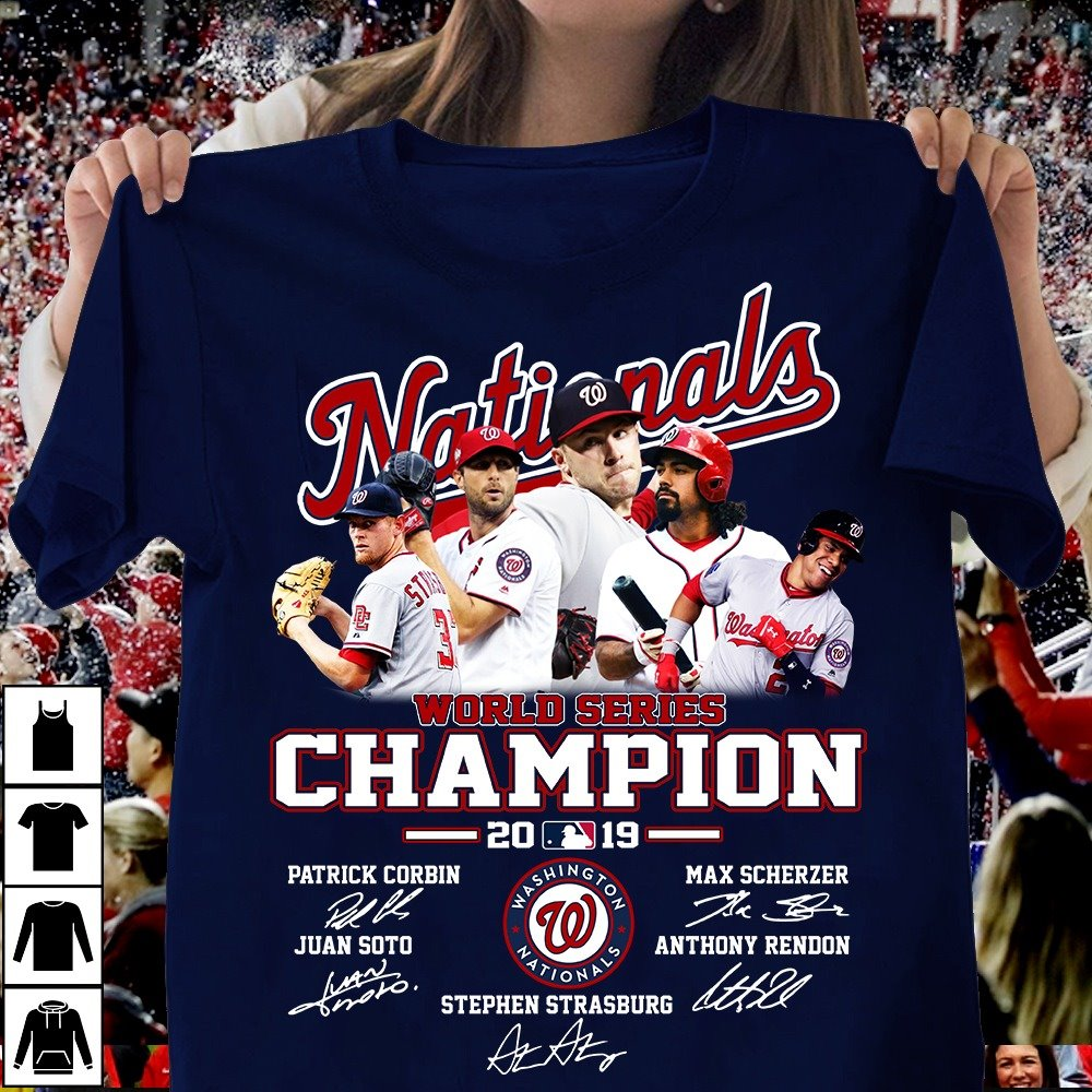 Nationals World Series Champion 2019 And Signatures Hoodie