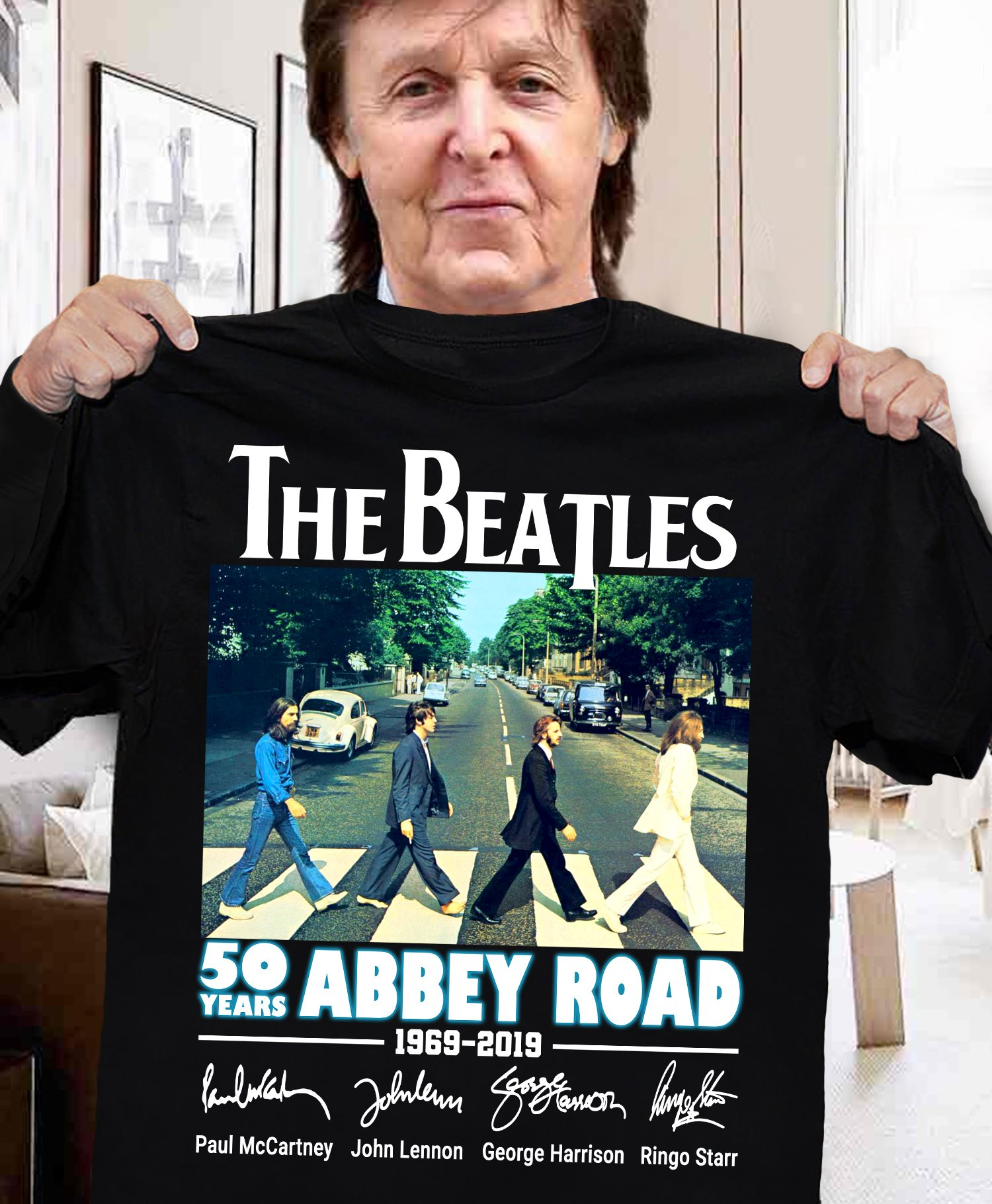The Beathles 50 Years Abbey Road Men T-Shirt