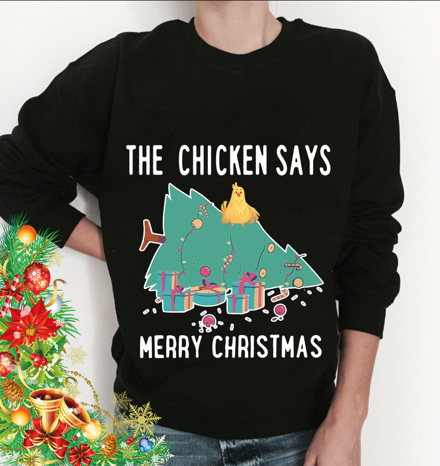 The Chicken Says Merry Christmas Men T-Shirt