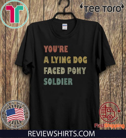 You're a Lying Dog-Faced Pony Soldier Funny Biden Vintage 2020 Sweatshirt